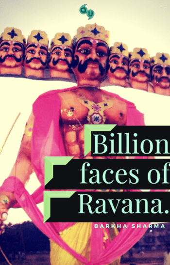 Billion faces of Ravana.