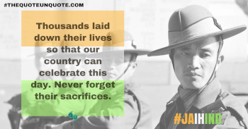 Thousands laid down their lives so that our country can celebrate this day. Never forget their sacrifices.