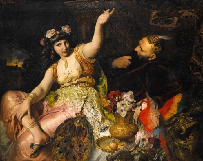 Ferdinand_Keller_-_Scheherazade_und_Sultan_Schariar_(1880)-1511581455.jpg