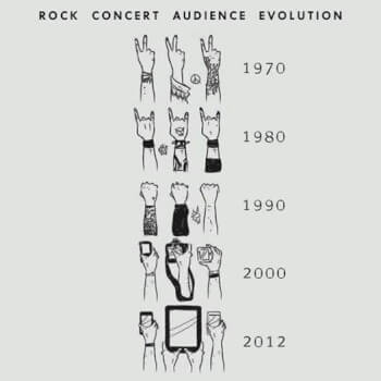 Differences in rock fans then and now
