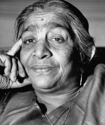 Sarojini Naidu - The Nightingale of India.