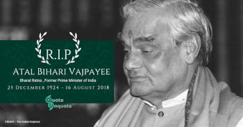 Former Prime Minister, Bharat Ratna Atal Bihari Vajpayee Passes Away