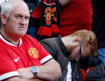 Manchester United Fan Dozes Off While Watching Their Game. Blames Bad Timings