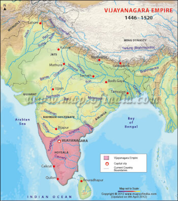 A Brief History and Glory of Vijayanagara Empire in Southern India